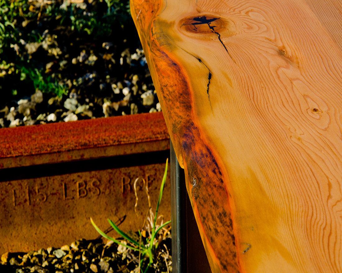 Live edge wood and steel - custom furniture by Blueline Contacting