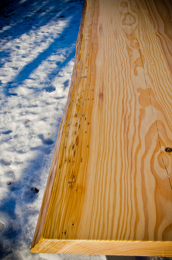 Live Edge Table - Long View - custom furniture by Blueline Contracting