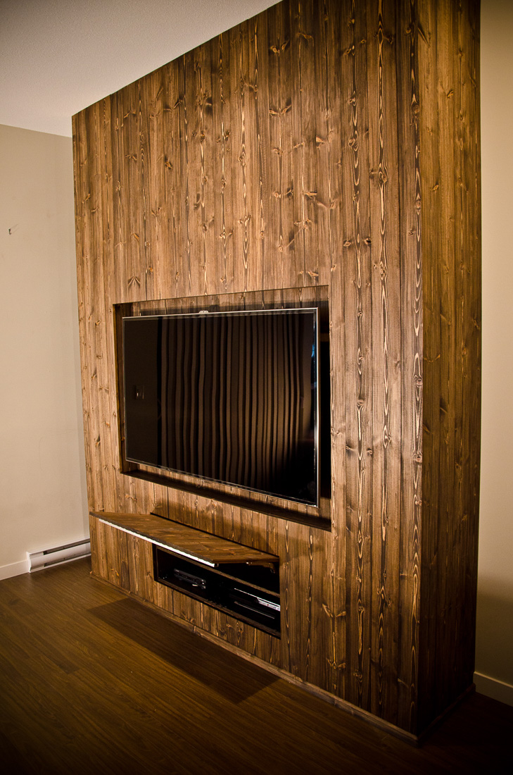 Custom build furniture - Entertainment unit and wall