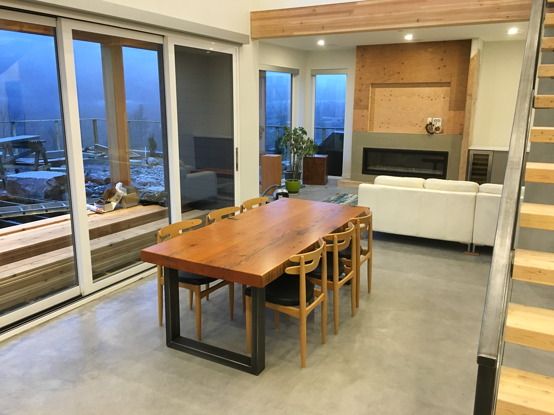 Dining - living area renovation - under construction - Blueline Contracting in Squamish