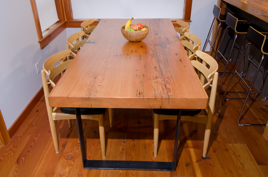 Reclaimed Fir Table - custom furniture by Blueline Contracting