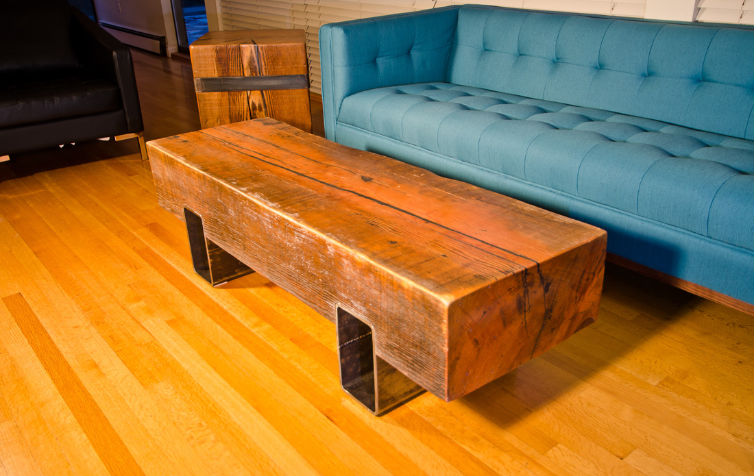Riverside Coffee Table - custom furniture by Blueline Contracting
